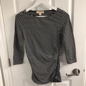 Michael Kors Black and White stripped t-shirt